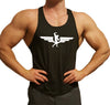 Swole Athletics Wing Logo White on Black Stringer (Men's) - Swole Athletics