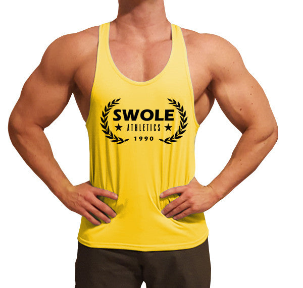 Swole Athletics Crown Black on Yellow Stringer (Men's) - Swole Athletics