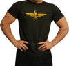Swole Athletics Wing Logo Gold on Black T-Shirt (Men's)