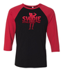 Swole Athletics Classic Baseball T-shirt Black/Red/Red (Unisex) - Swole Athletics