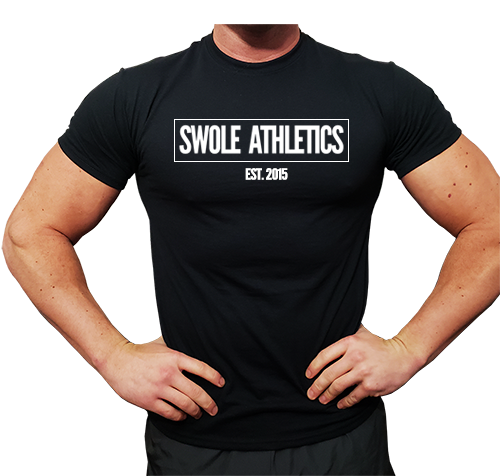 Swole Athletics Boxed Logo Black T-Shirt (Men's)
