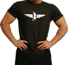 Swole Athletics Wing Logo White on Black T-Shirt (Men's) - Swole Athletics