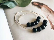 Load image into Gallery viewer, Sydney Hoop Earrings (Ebony Wood)