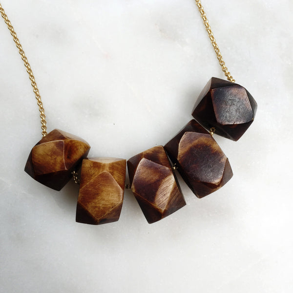 Tabitha Necklace (Coffee)