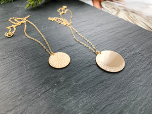 Moon Coin Necklace Set (Gold-Filled)