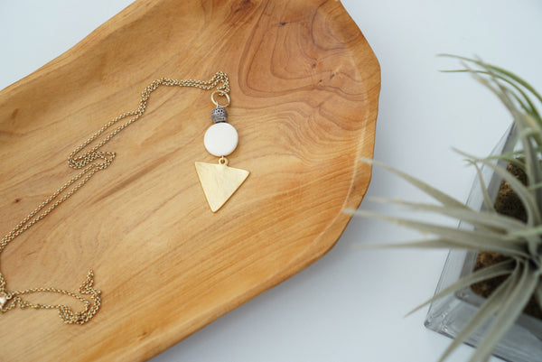 Dylan Necklace (Bone + Grey)
