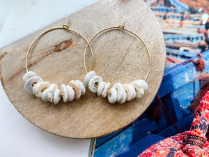 Jaime Hoop Earrings (Textural Mix)
