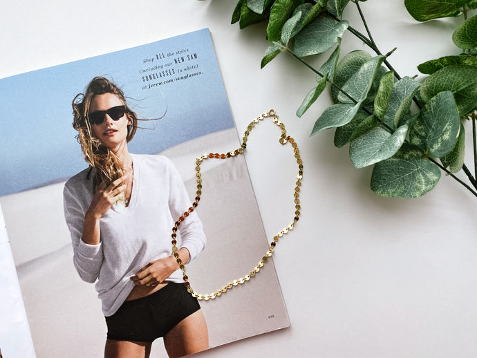 Reese Confetti Chain Necklace (Gold-Filled)