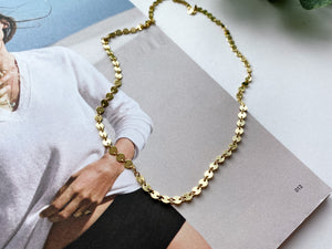 "Reese Confetti Chain Necklace (Gold-Filled, 16"")"