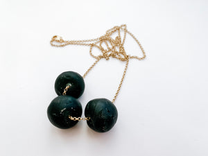 PERFECTLY IMPERFECT Camille Necklace (Matte Black)