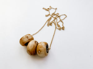 PERFECTLY IMPERFECT Camille Necklace (Sandy Brown)