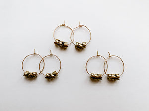 "PERFECTLY IMPERFECT Emma 1"" Hoop Earrings (Brass Snake)"