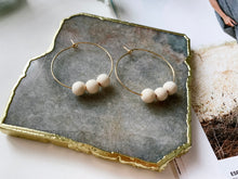 Load image into Gallery viewer, Jaime Hoop Earrings (White Wood)