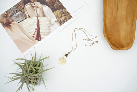 Marisa Necklace (Bone & Stripe)
