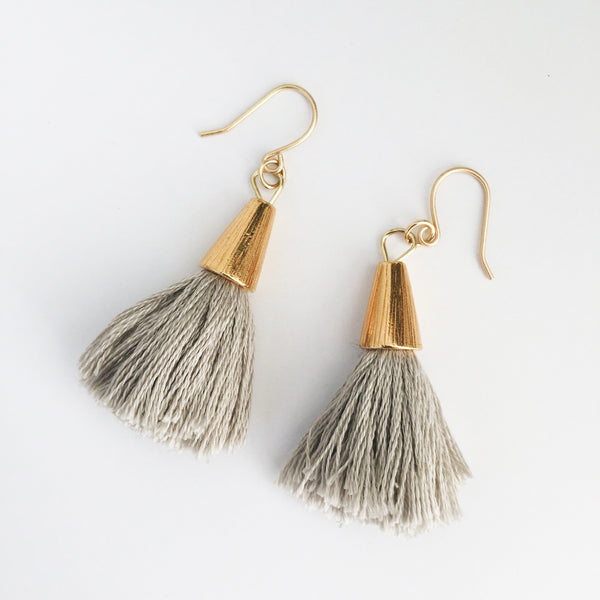Bridget Tassel Earrings (Grey)