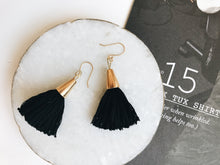 Load image into Gallery viewer, Bridget Tassel Earrings (Black)