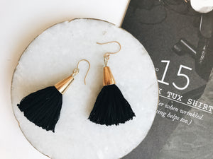 Bridget Tassel Earrings (Black)