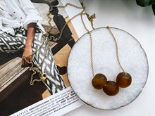 Load image into Gallery viewer, Camille Necklace (Amber Recycled Glass)