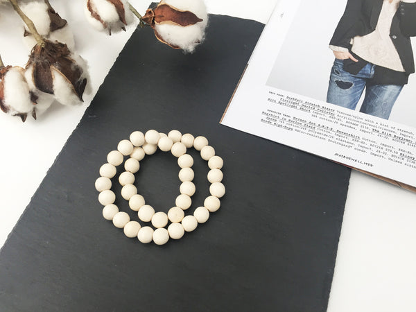 Laurel Wrap Bracelet (White Wood)