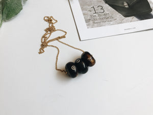 Camille Necklace (Espresso Dot)