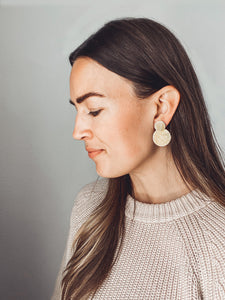 Clare Earrings (3-in-1, Recycled Brass)