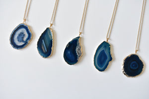 Blakely Necklace (Inky Blue)