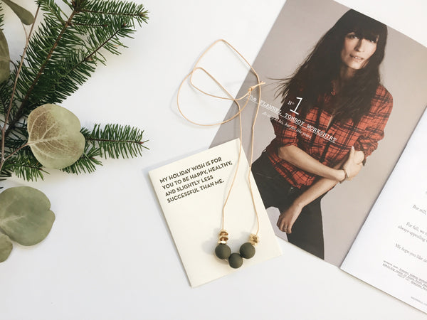 Sadie Necklace (Olive)