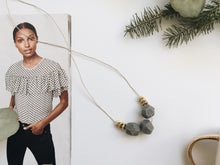 Load image into Gallery viewer, Heidi Necklace (Grey Granite)
