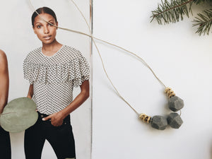 Heidi Necklace (Grey Granite)
