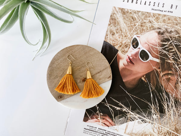 Bridget Tassel Earrings (Golden Harvest)