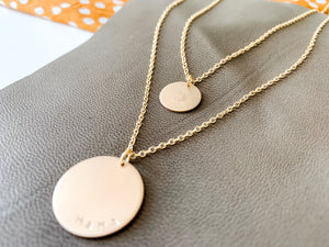 Mama Coin Necklace Set