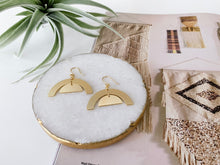 Load image into Gallery viewer, Julia Earrings (Arches, Matte Gold)