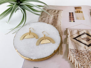 Julia Earrings (Arches, Matte Gold)
