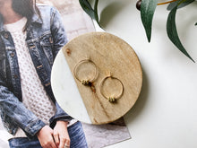 Load image into Gallery viewer, Emma Hoop Earrings (Mini Brass Squares)