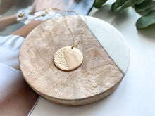 Load image into Gallery viewer, PRE-ORDER: Waves Coin Necklace (Matte Gold)
