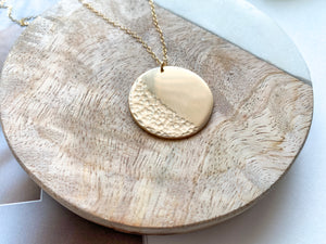 PRE-ORDER: Waves Coin Necklace (Matte Gold)