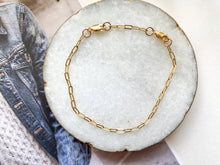 Load image into Gallery viewer, James Link Chain Bracelet (Gold-Filled)