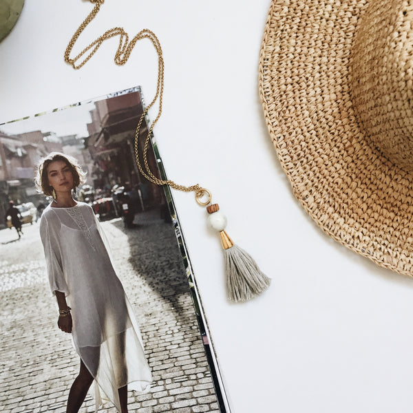Lottie Tassel Necklace