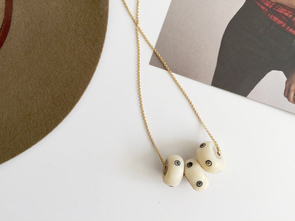 Camille Necklace (White Target)