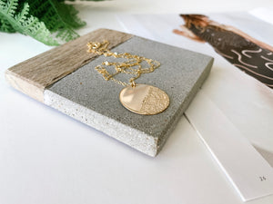 Waves Coin Necklace