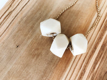Load image into Gallery viewer, Camille Necklace (Faceted Ivory)