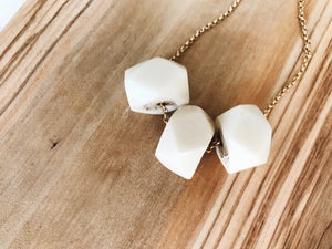 Camille Necklace (Faceted Ivory)