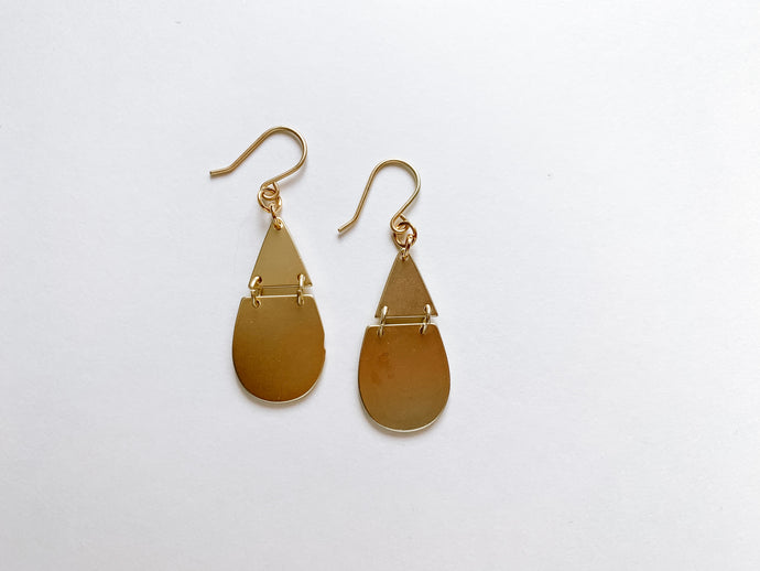 PERFECTLY IMPERFECT Julia Earrings (Teardrop, Matte Gold)