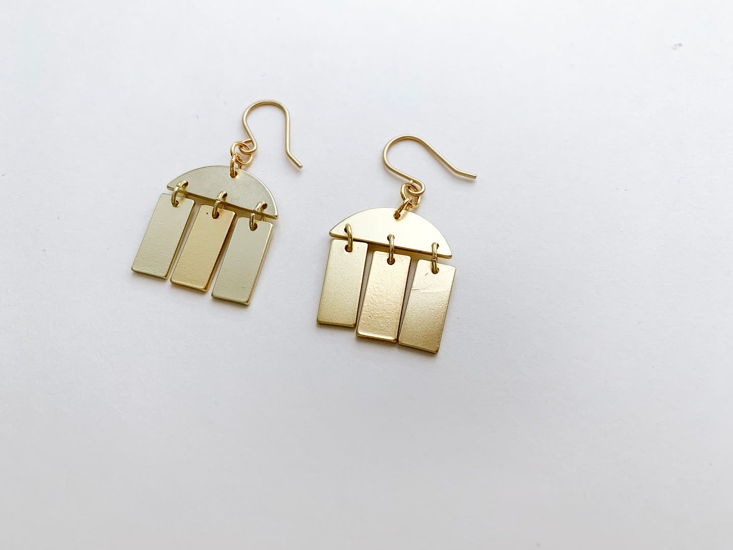 PERFECTLY IMPERFECT Julia Earrings (Geometric Mix, Matte Gold)