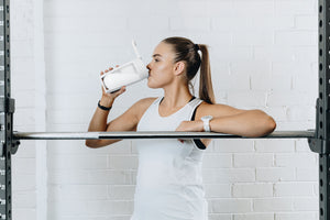 mous shaker bottle and fitness bottle white colour
