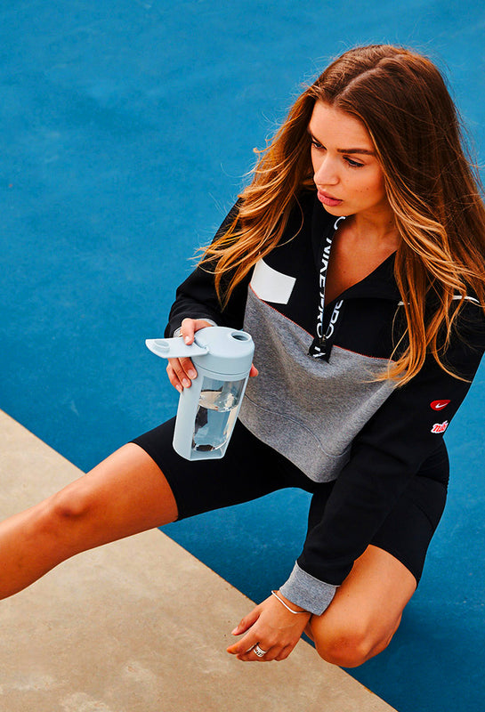mous shaker bottle and fitness bottle grey the easiest to clean bottle in the world