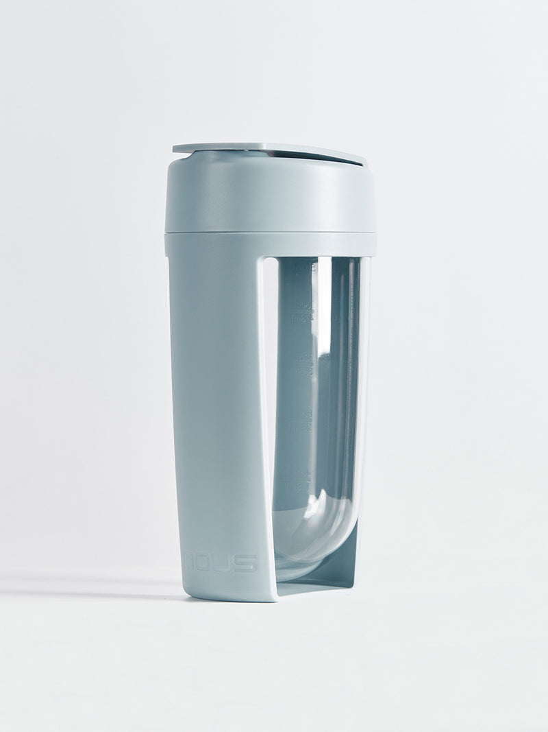 fitness bottle and supplement shaker by mous in grey colour