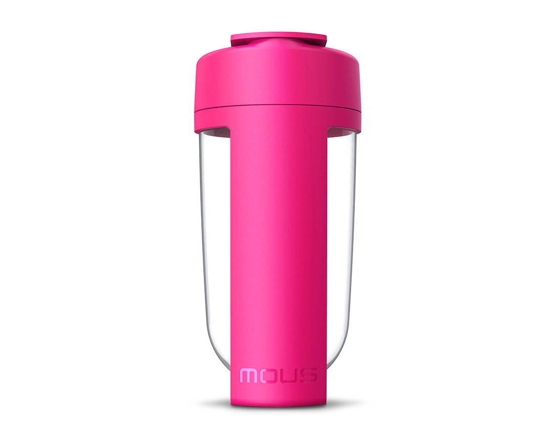 mous fitness shaker bottle pink