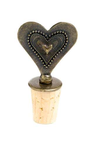 South African Fancy Heart Wine Bottle Stopper
