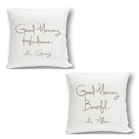 "Personalized ""Good Morning"" Pillows"